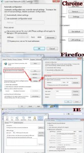 proxy setting for chrome firefox ie