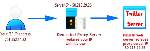 dedicated proxy server for twitter