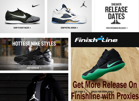 Get more release on Finishline with proxies
