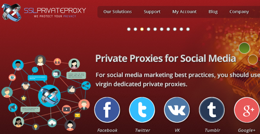 sslprivateproxy for social media