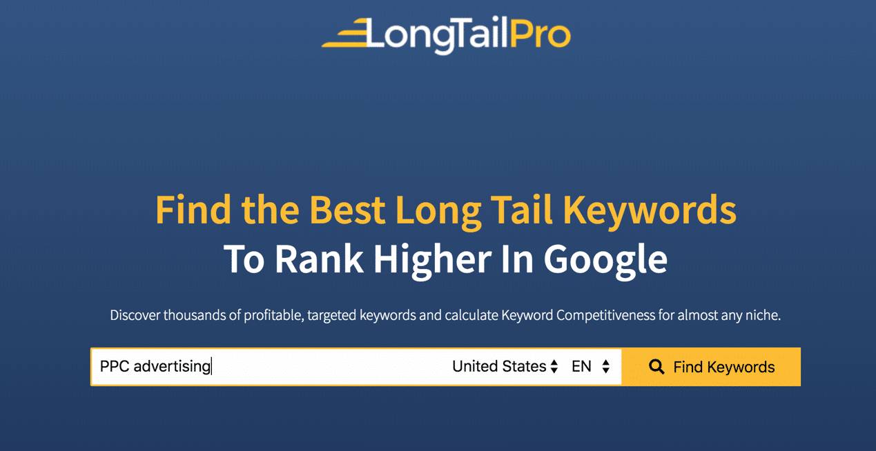 LongTail Pro Home Page