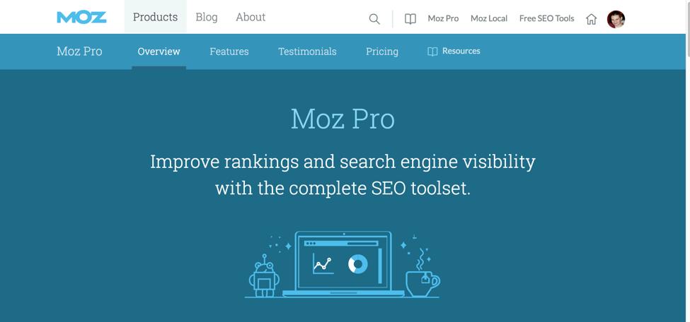 MozPro Web Home Page