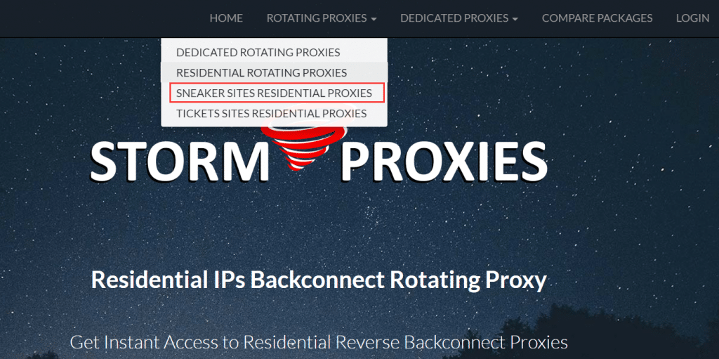 residential Seaker proxies of stormproxies