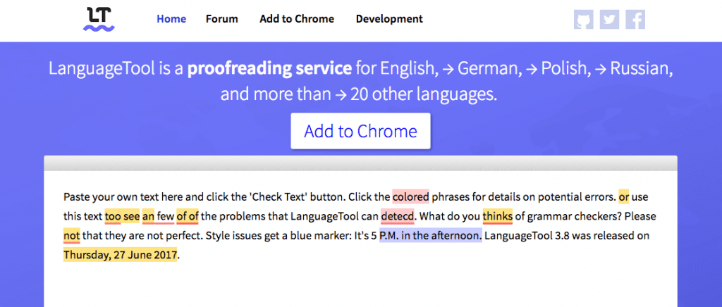 LanguageTool Grammar Check