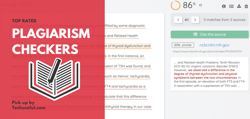 Top rated Plagiarism Checkers