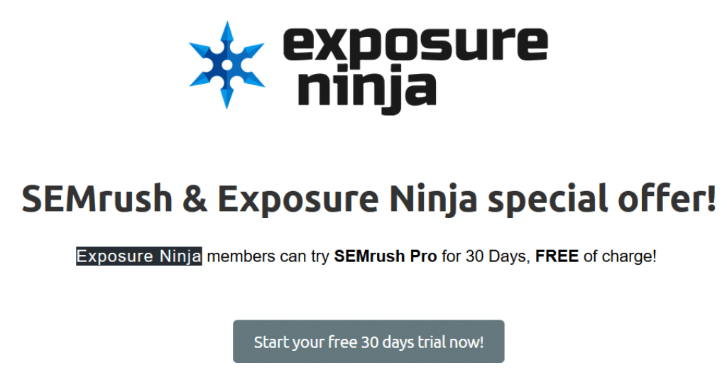 SEMrush Pro for Free trial 30 Days