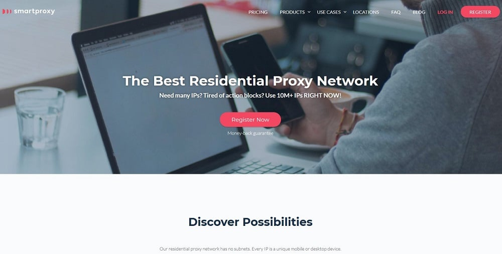 Smartproxy residential network