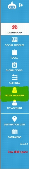 Proxy Manager Display - Step 1