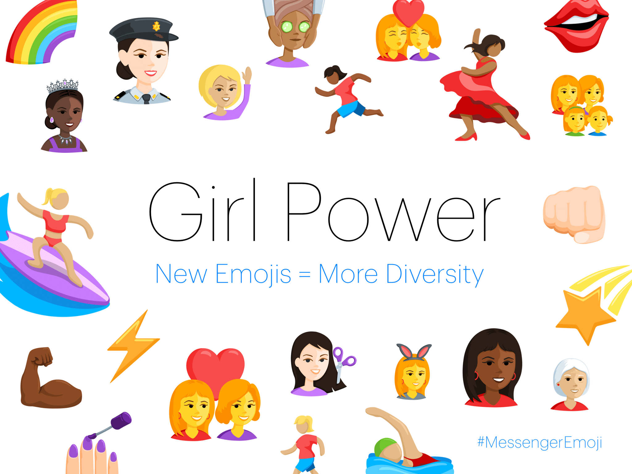New emojis girl power