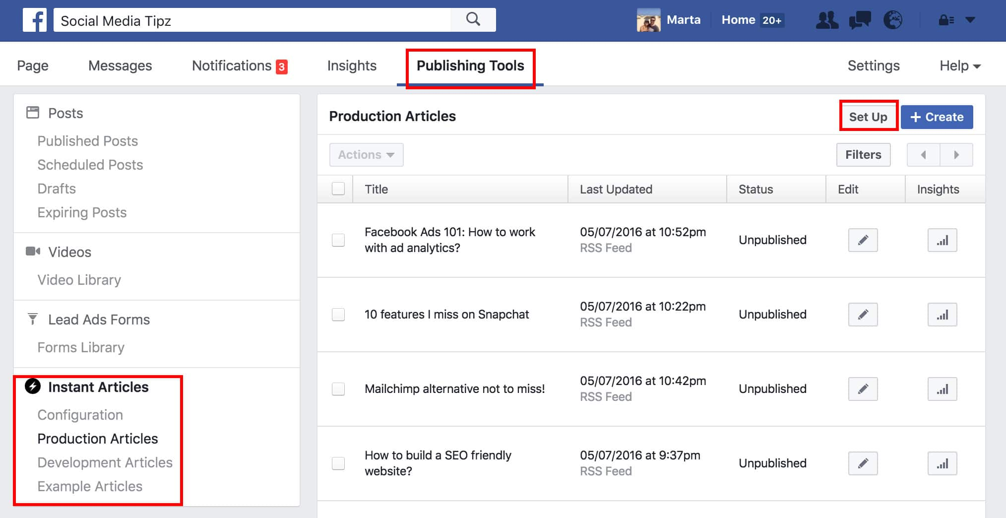 facebook instant articles Publishing Tools