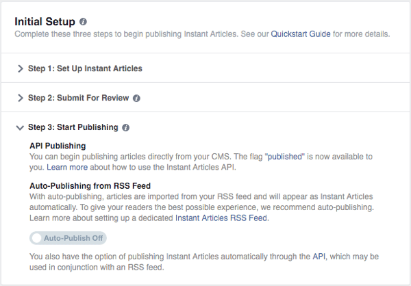 facebook instant articles approved