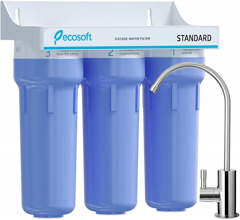 Ecosoft 3 Stage Water Purifier Filtration System