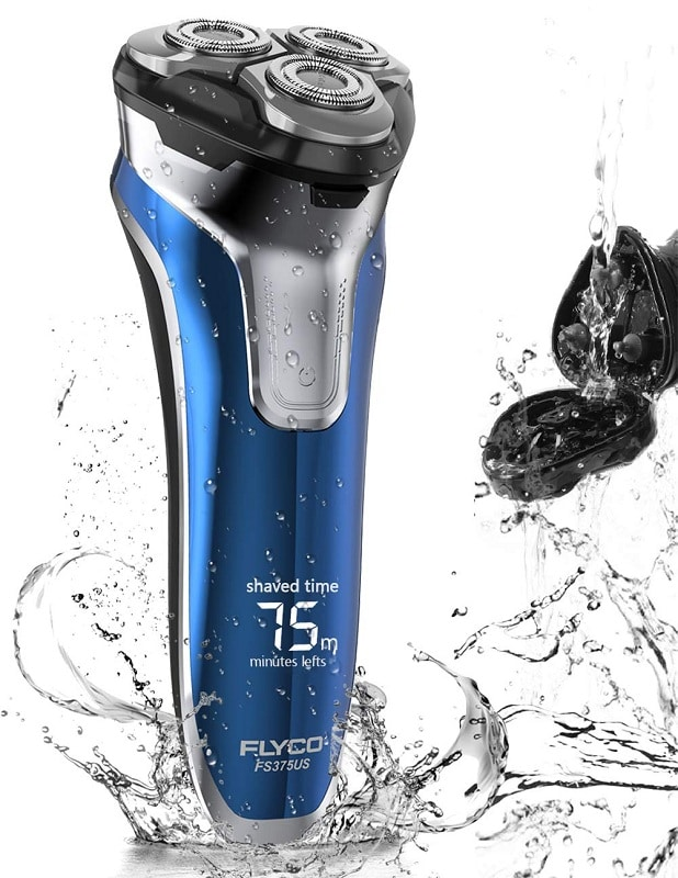 FLYCO Wet & Dry Electric Rotary Shaver with Beard Trimmer