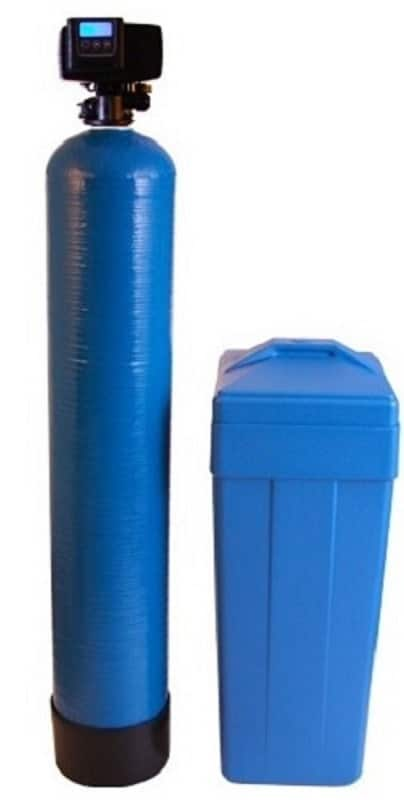 Fleck 64K grain blue water softener