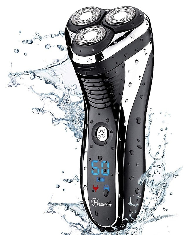 HATTEKER Cordless Electric Shaver with Rotary blades