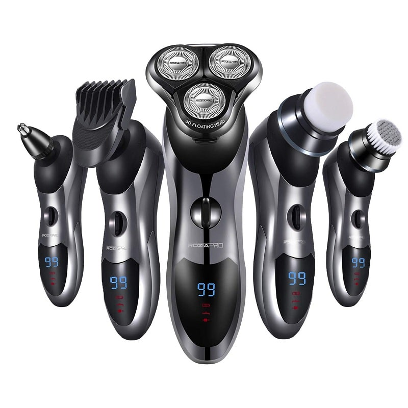 Roziapro Men's 5 in 1 Rotary Shaver & Beard Trimmer
