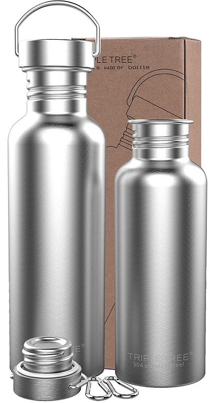 Triple Tree Uninsulated stainless steel water bottle