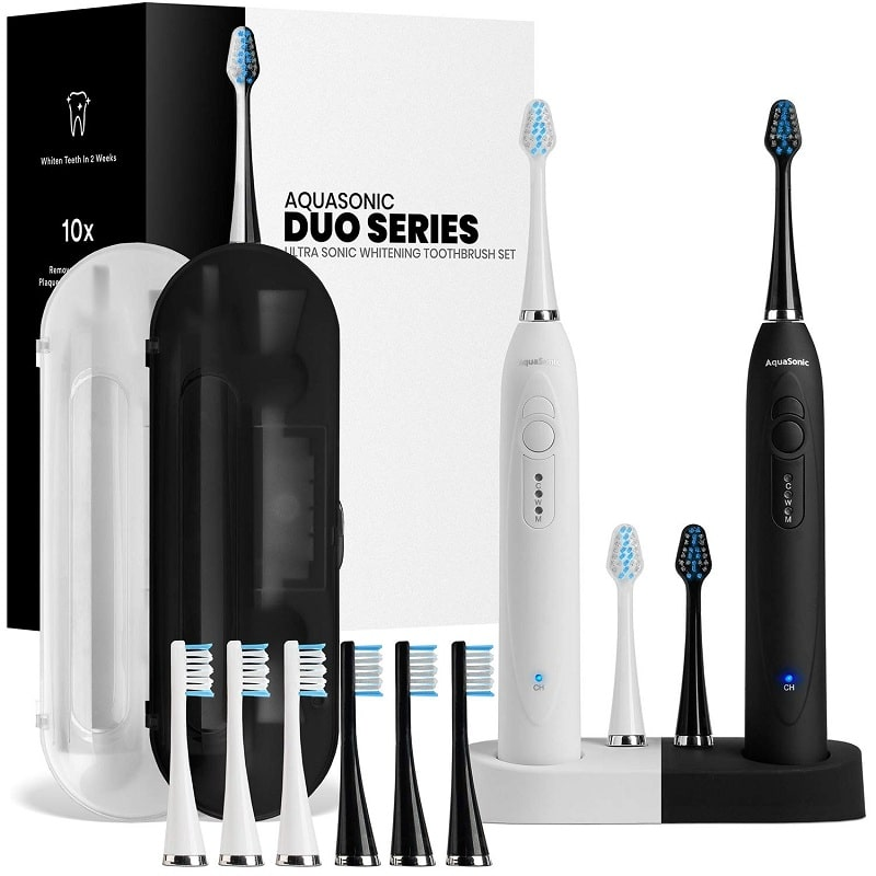 AquaSonic Duo Ultra whitening toothbrush