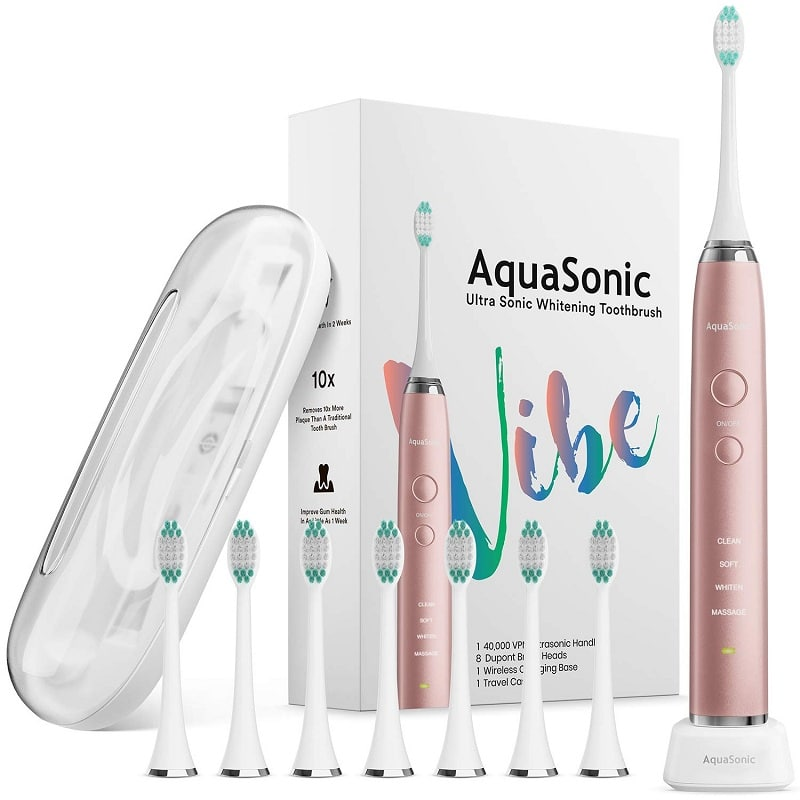 AquaSonic Vibe series ultra-whitening electric toothbrush