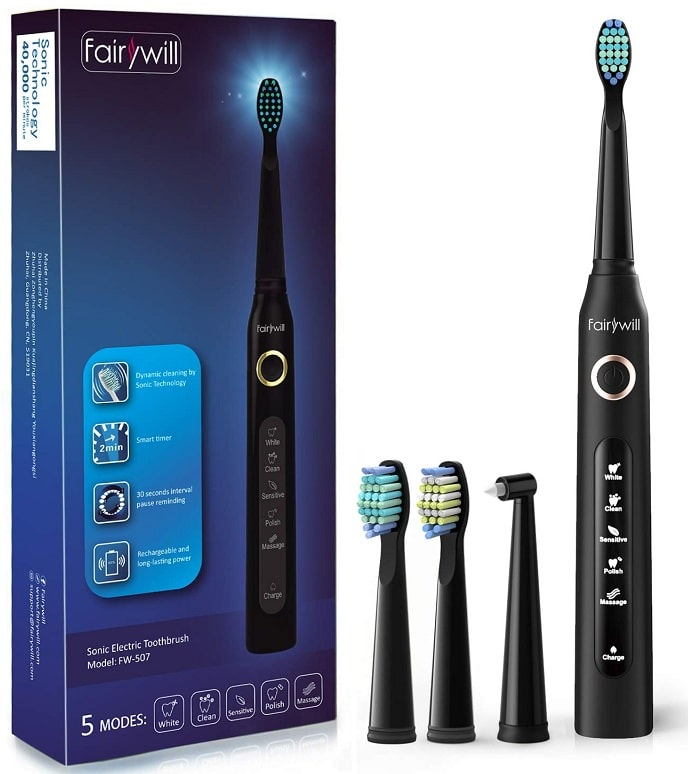 Fairywill 2 AAAbattery powered toothbrush