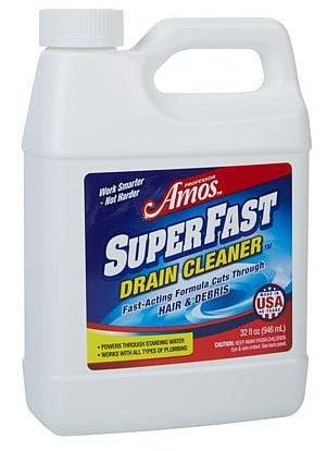 Professor Amos' SuperFast 2-Pack Drain Cleaner & Drain Opener