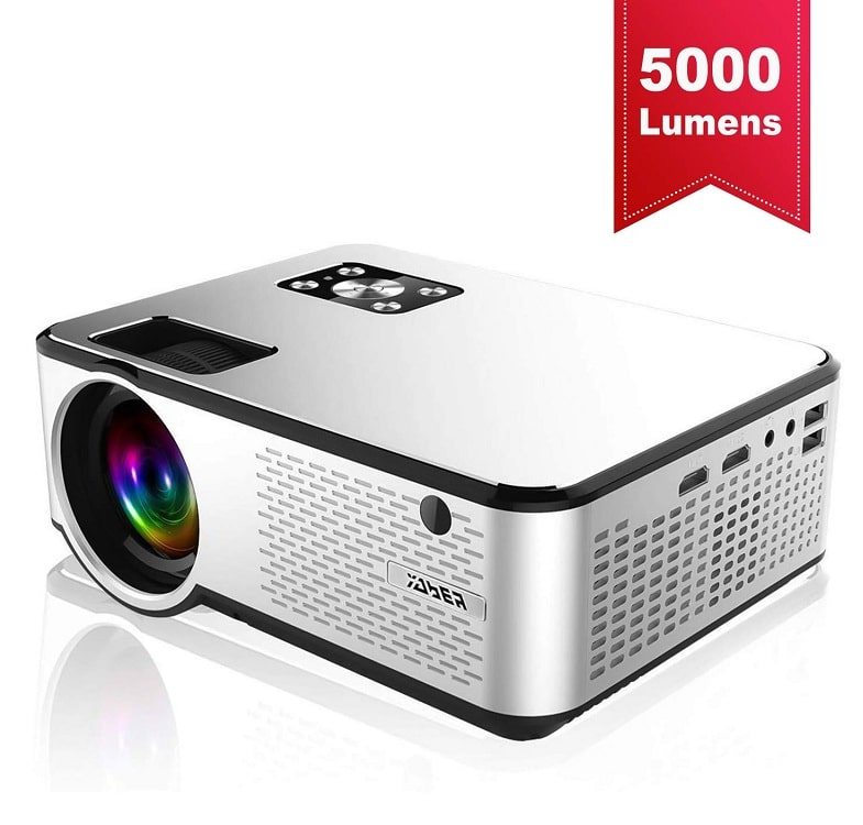 YABER Portable Projector with 5000 Lumen