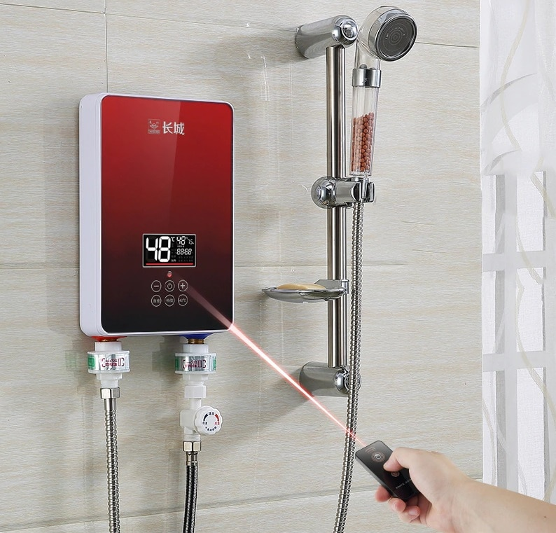 modern tankless water heater