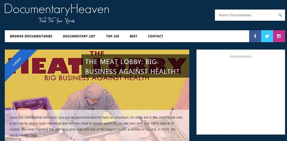 Documentary heaven home page