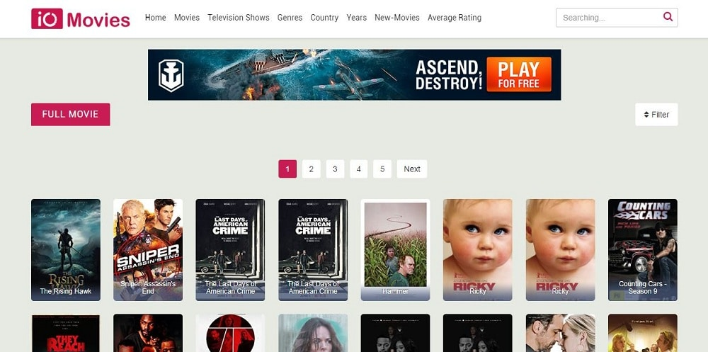 IO Movies Home Page