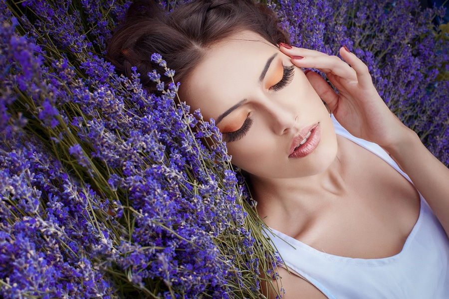 Sleep with lavender