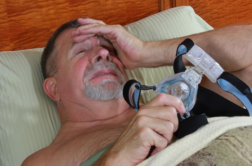 hard to fall asleep with CPAP