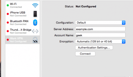 Steps To Set Up a VPN on MAC OS X
